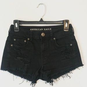 Black High Waist American Eagle shorts